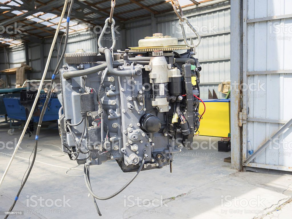 Boat engine royalty-free stock photo