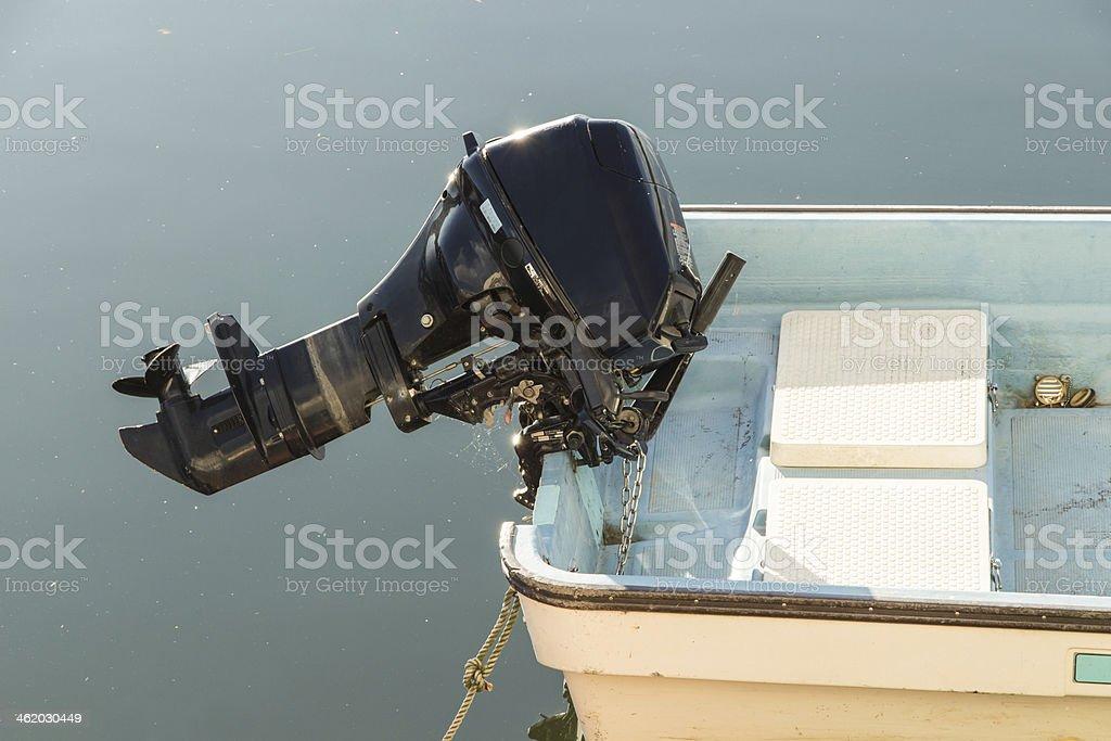 Boat engine stock photo