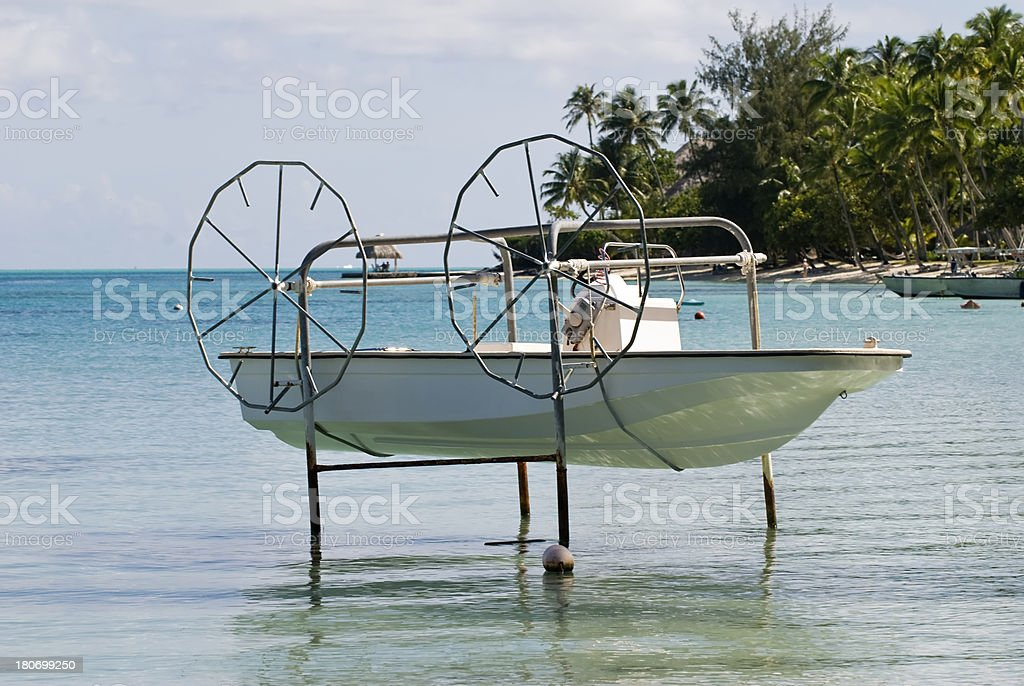 Boat fishermen royalty-free stock photo