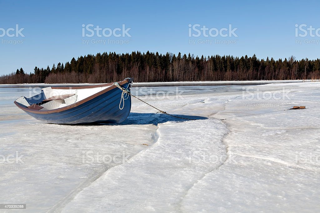Boat from the side royalty-free stock photo