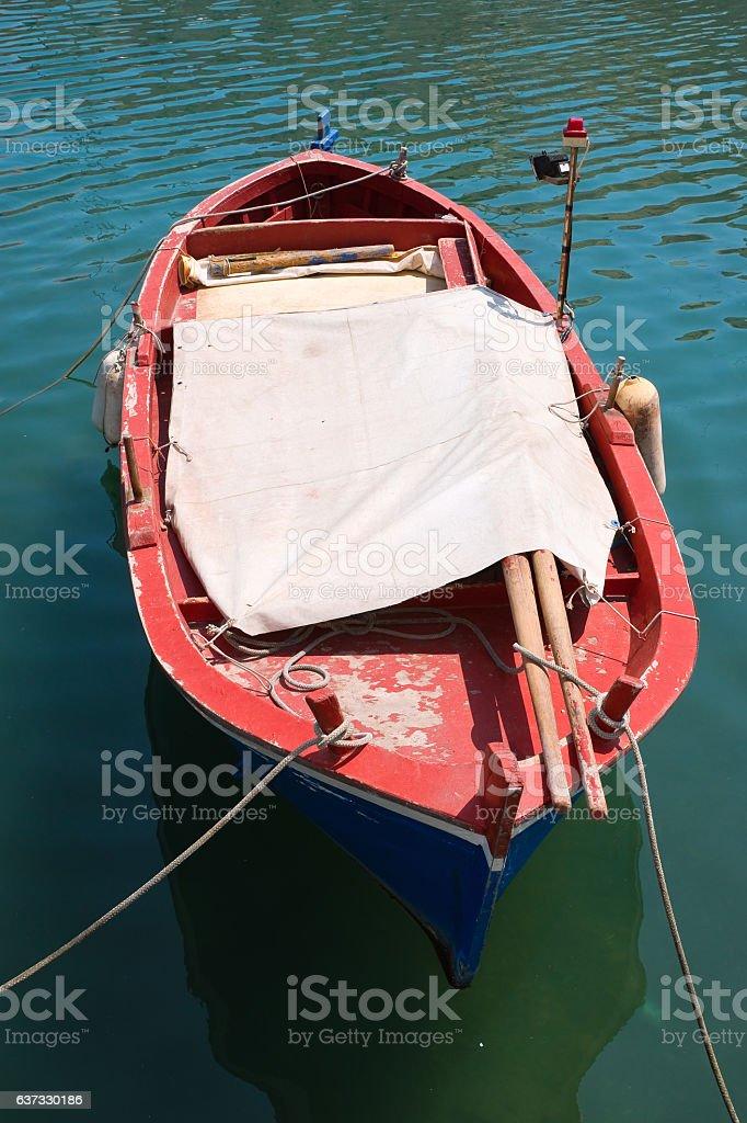 Boat. Giovinazzo. Puglia. Italy. stock photo