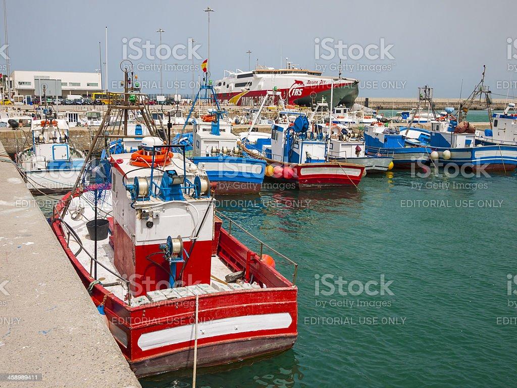 Boat Harbor in Tarifa, Spain royalty-free stock photo