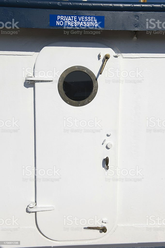 Boat Hatch royalty-free stock photo