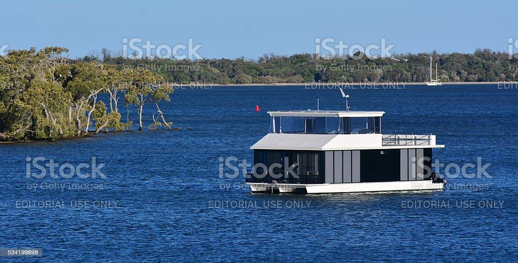 Boat house in Gold Coast Queensland Australia stock photo
