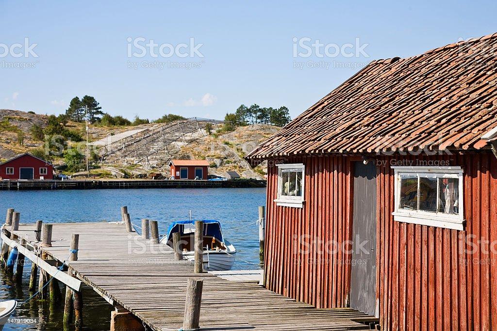 Boat house royalty-free stock photo