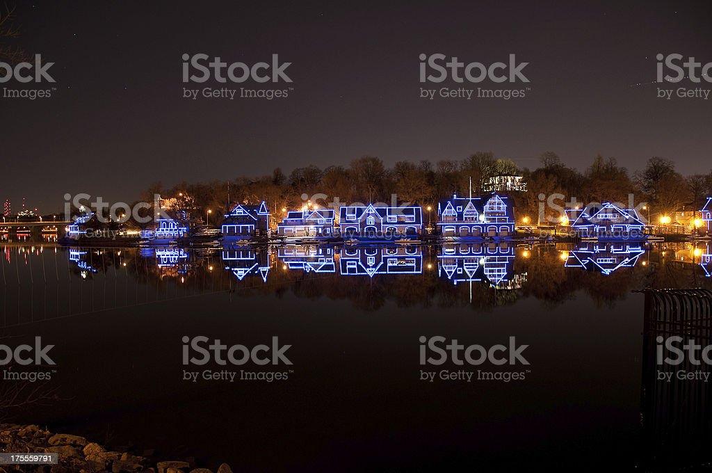 Boat House Row Philadelphia stock photo