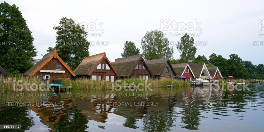 Boat houses stock photo