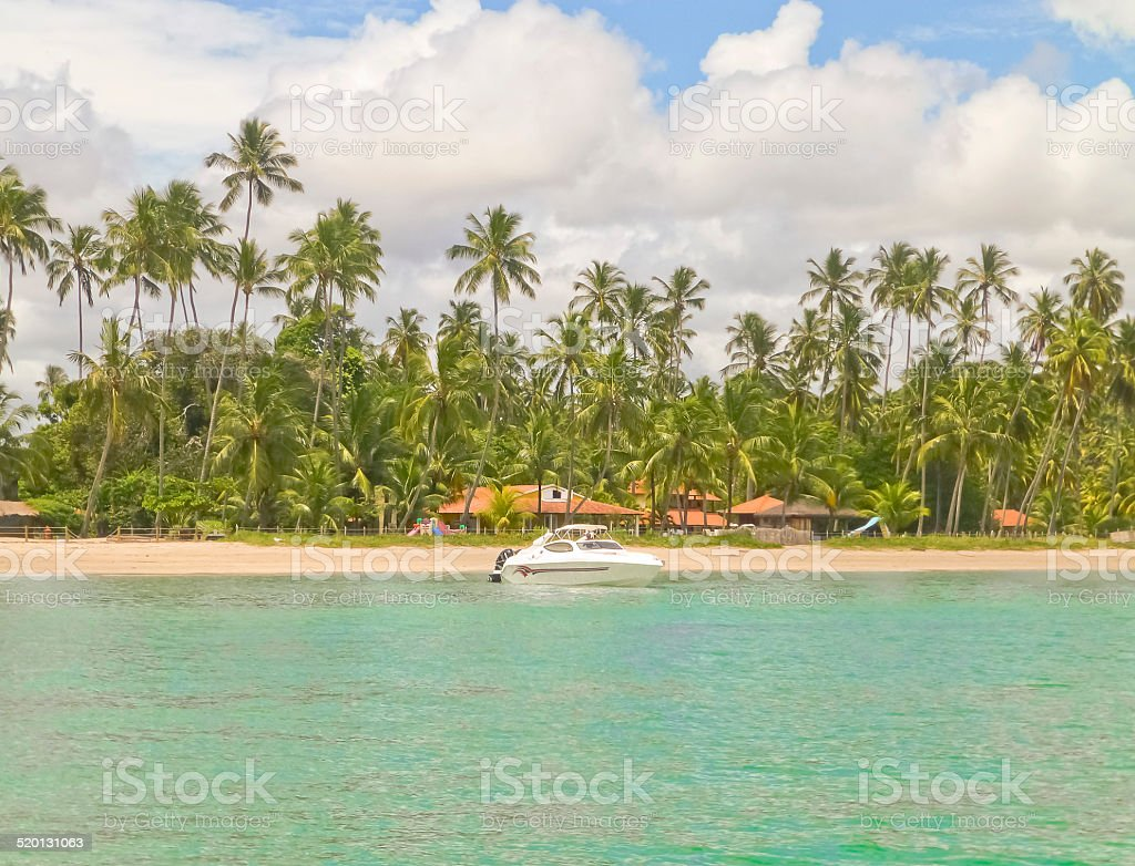 Boat in a Island of Brazil stock photo