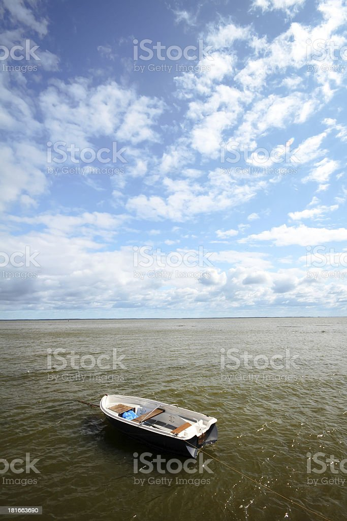Boat in a sea royalty-free stock photo