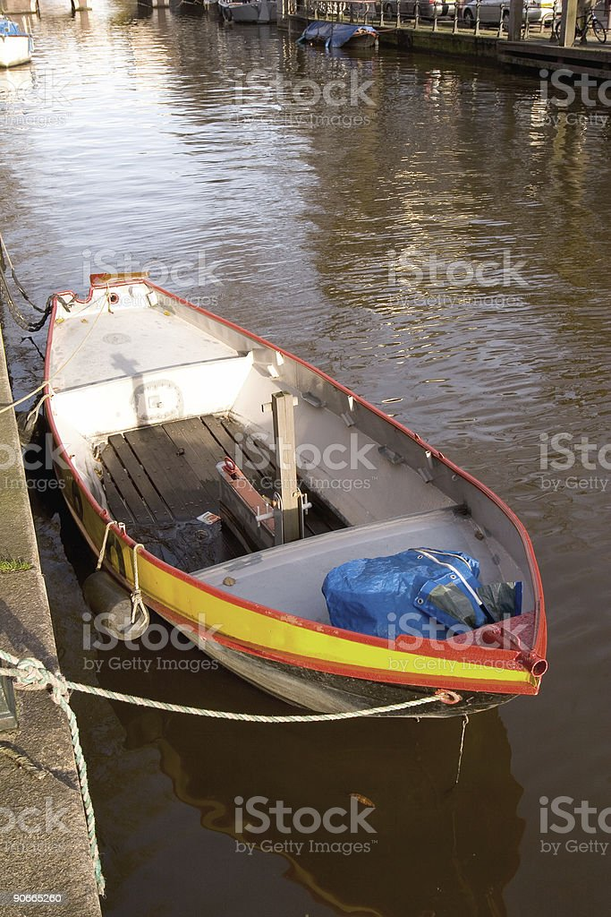 boat in amsterdam 2 royalty-free stock photo