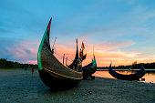 A boat in Bangladesh on the beach