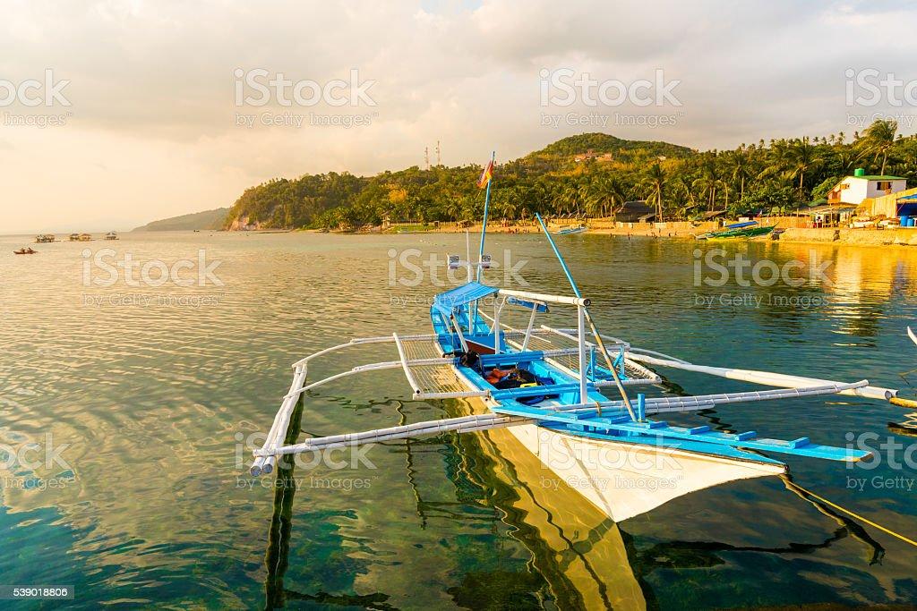 Boat in Batangas, Philippines stock photo