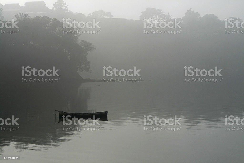 Boat in bay royalty-free stock photo