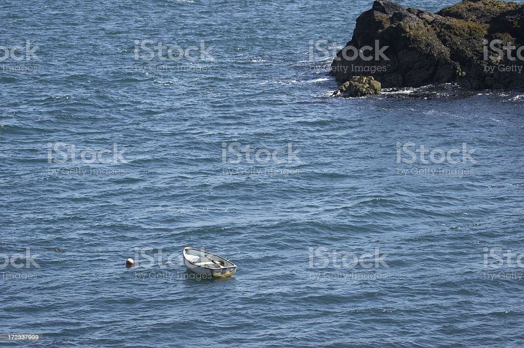 Boat in blue lagoon royalty-free stock photo