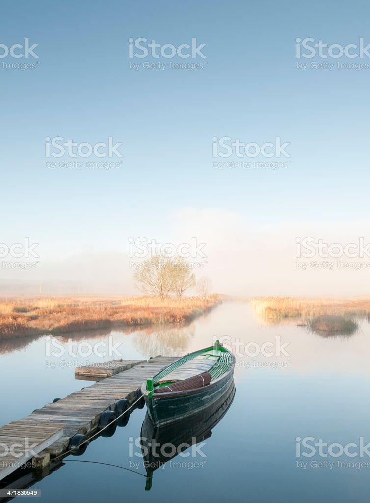 Boat in Ca?izar Lake royalty-free stock photo