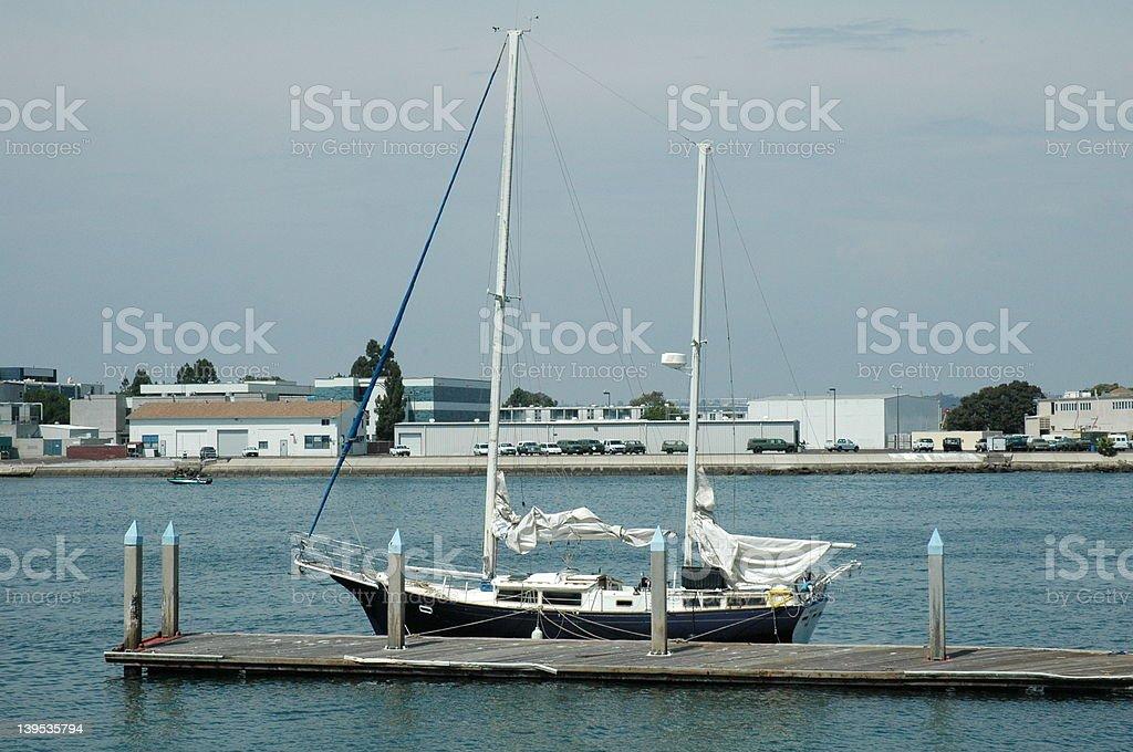 Boat in dock stock photo