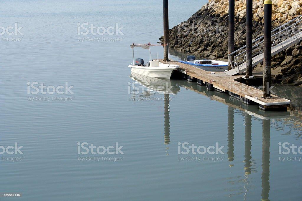 boat in dock royalty-free stock photo