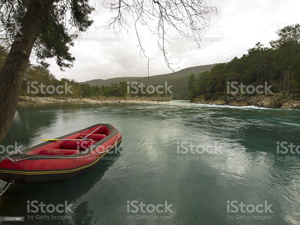 Boat in Eurymedon stock photo
