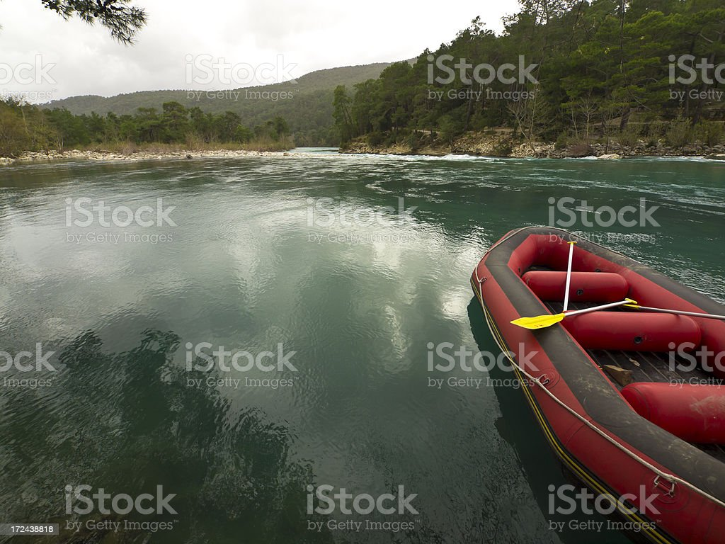 Boat in Eurymedon royalty-free stock photo