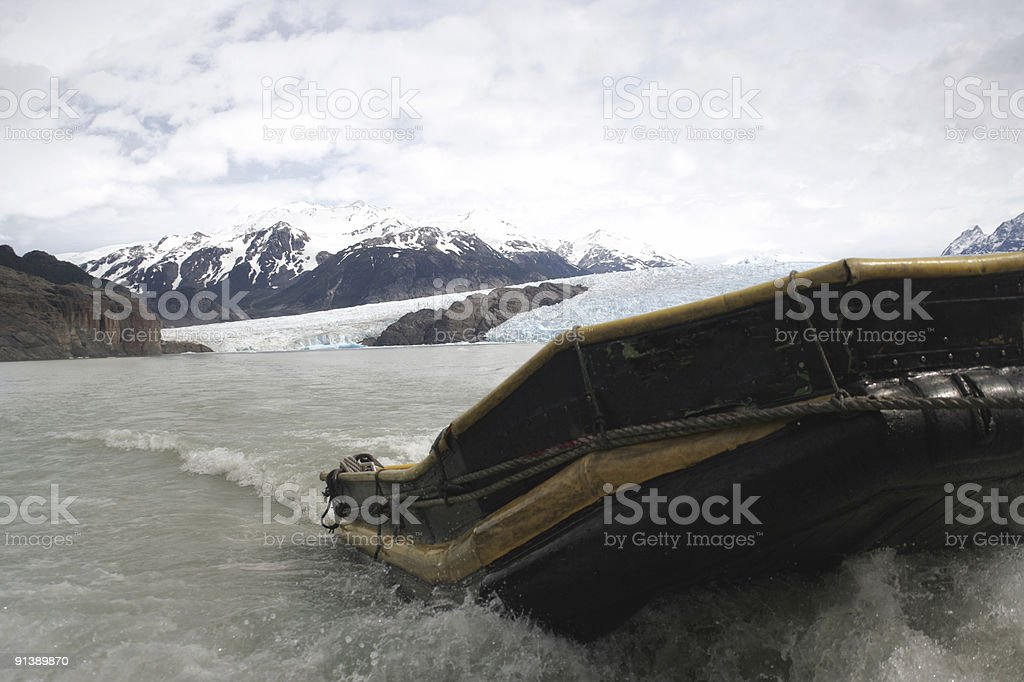 Boat in Glacier royalty-free stock photo