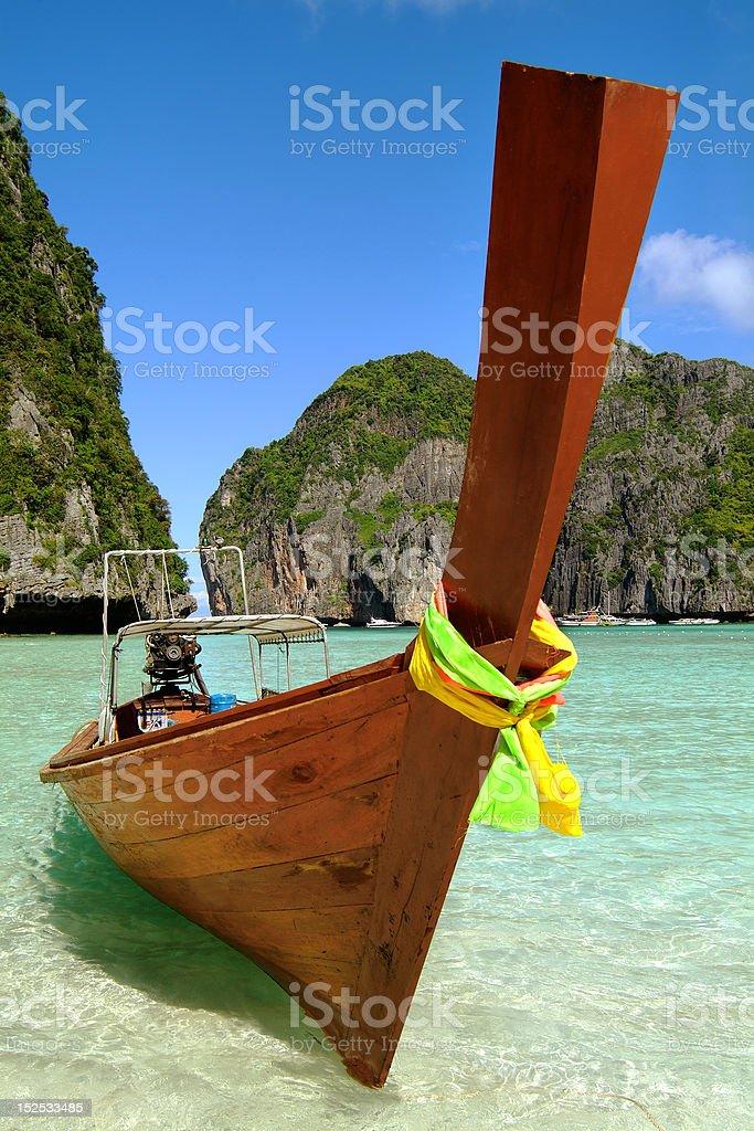 Boat in lagoon royalty-free stock photo