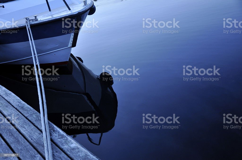 Boat in norwegian fjord royalty-free stock photo