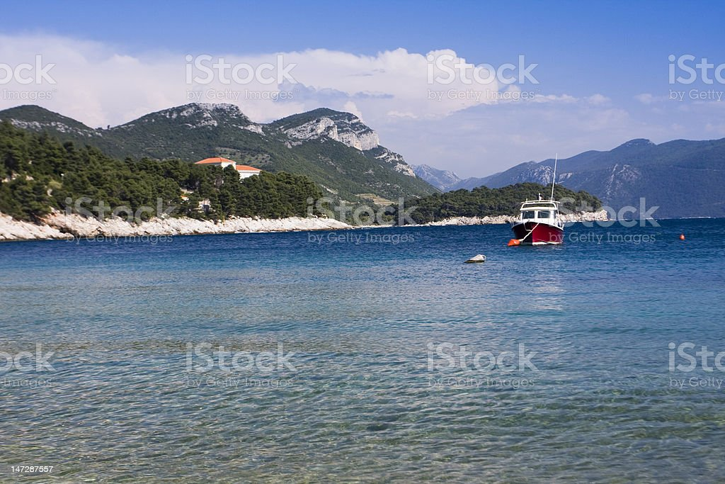 boat in the adriatic sea royalty-free stock photo