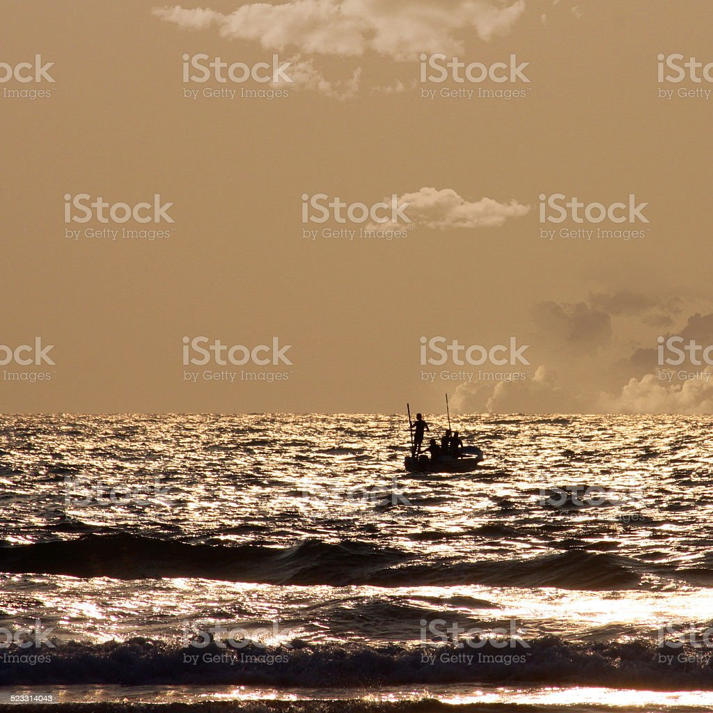 Boot am Abend stock photo