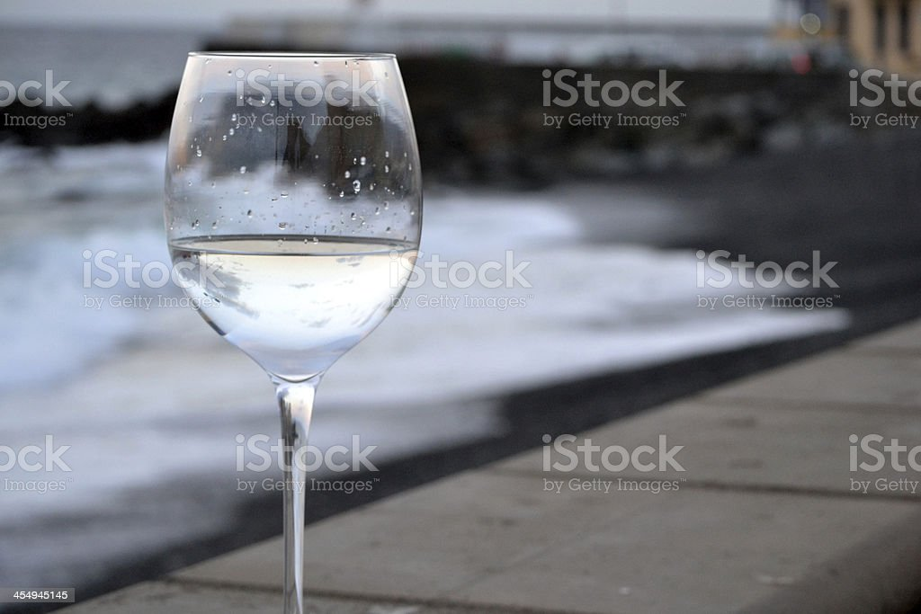 Boat in the glass royalty-free stock photo