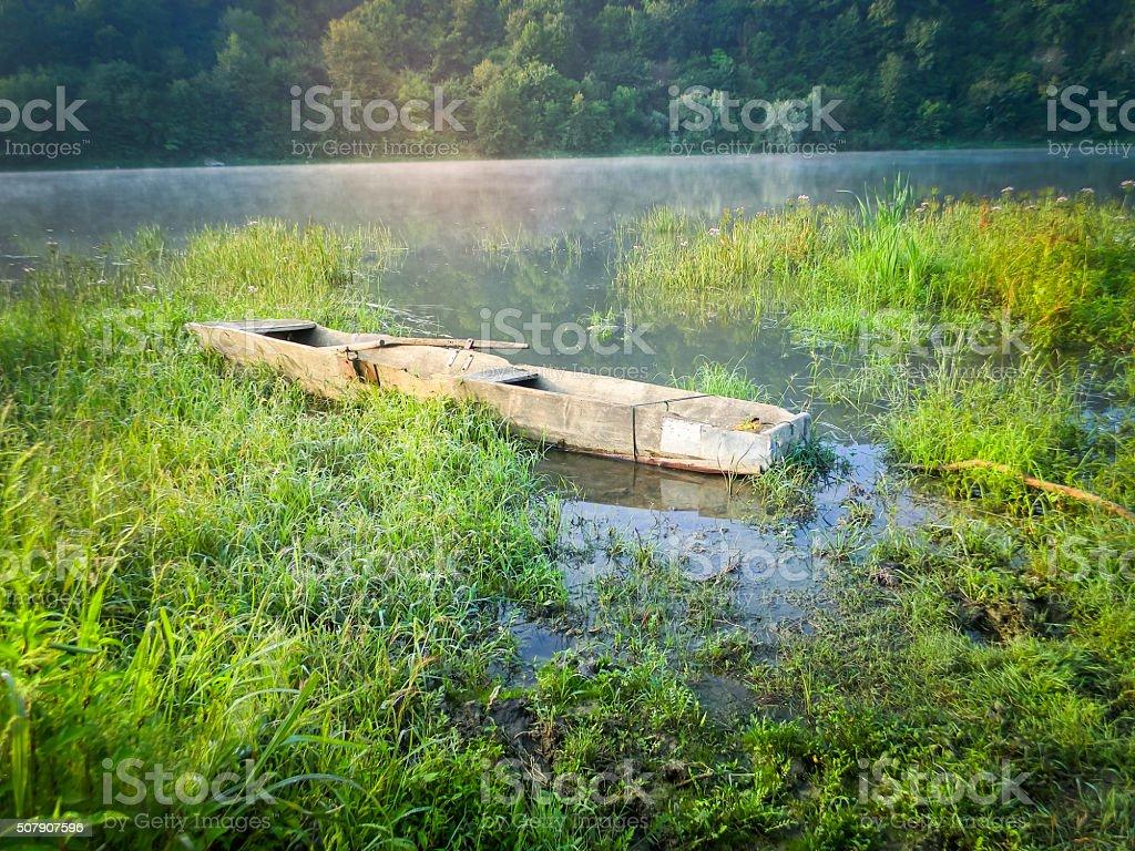 Barco de los pantanos foto de stock libre de derechos