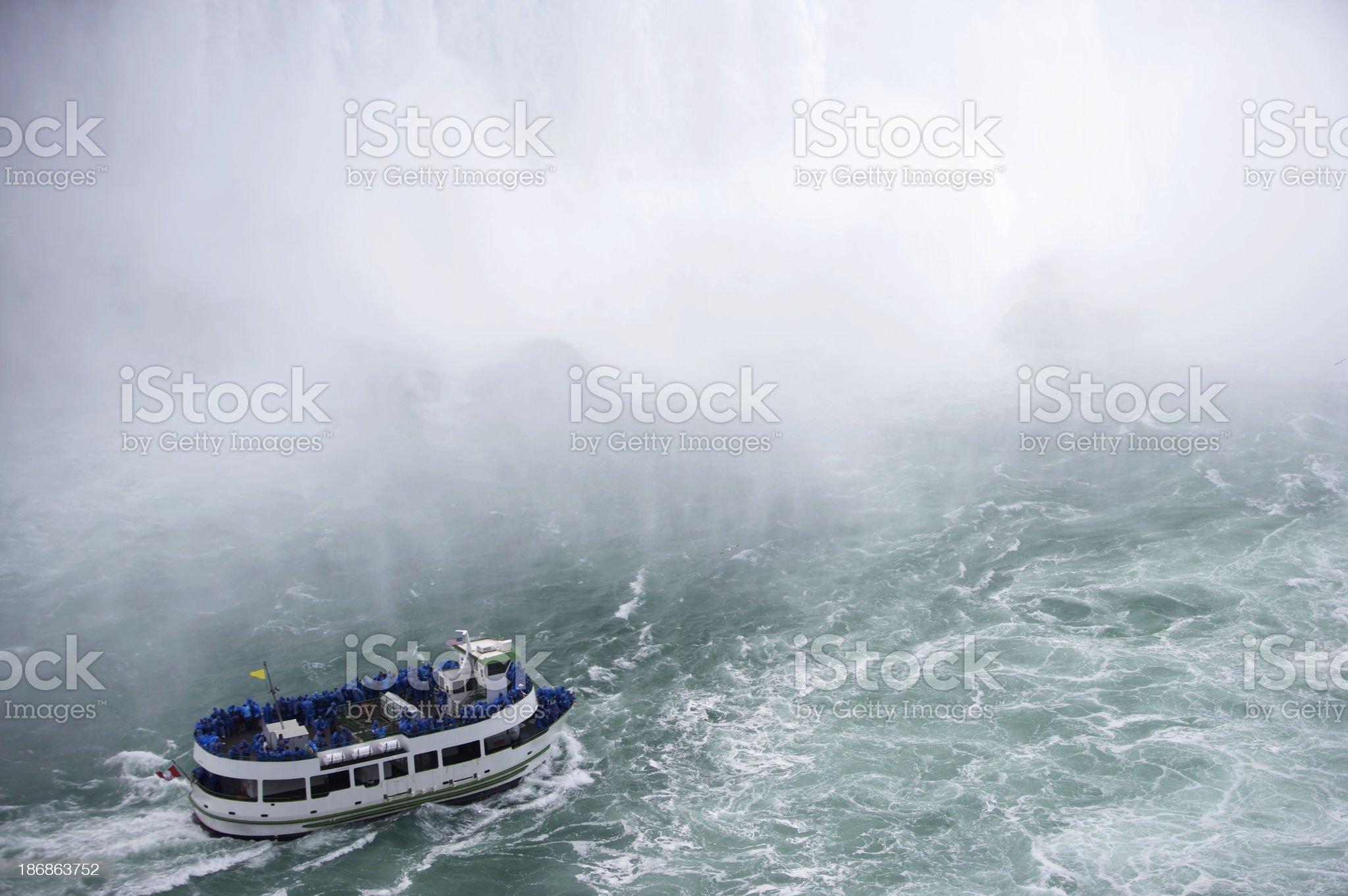 Boat in the mist, Niagara Falls royalty-free stock photo