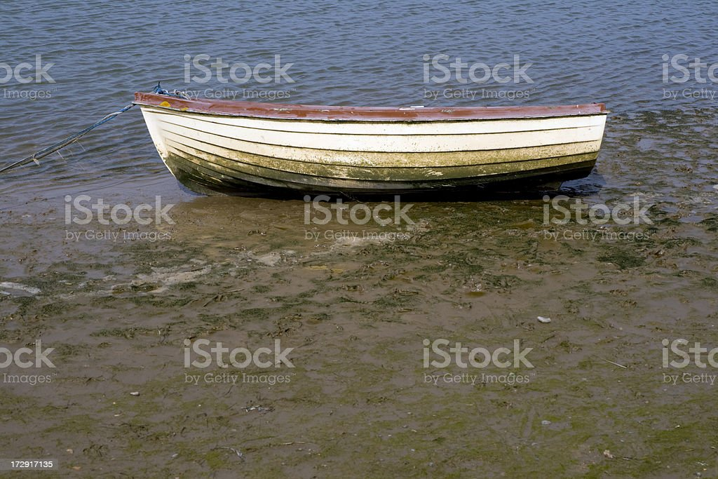 Boat in the mud royalty-free stock photo