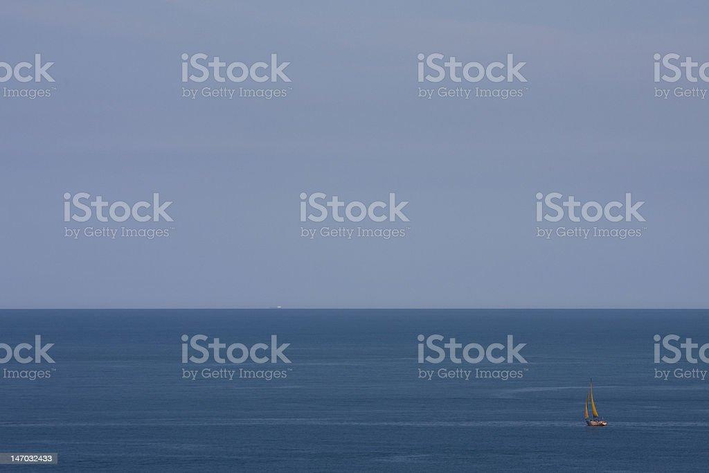 Boat in the sea stock photo