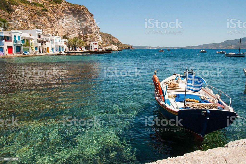 Bateau dans la mer photo libre de droits