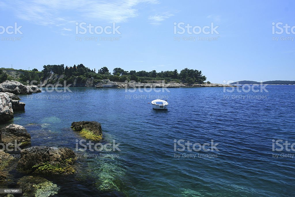 Boat in the sea royalty-free stock photo
