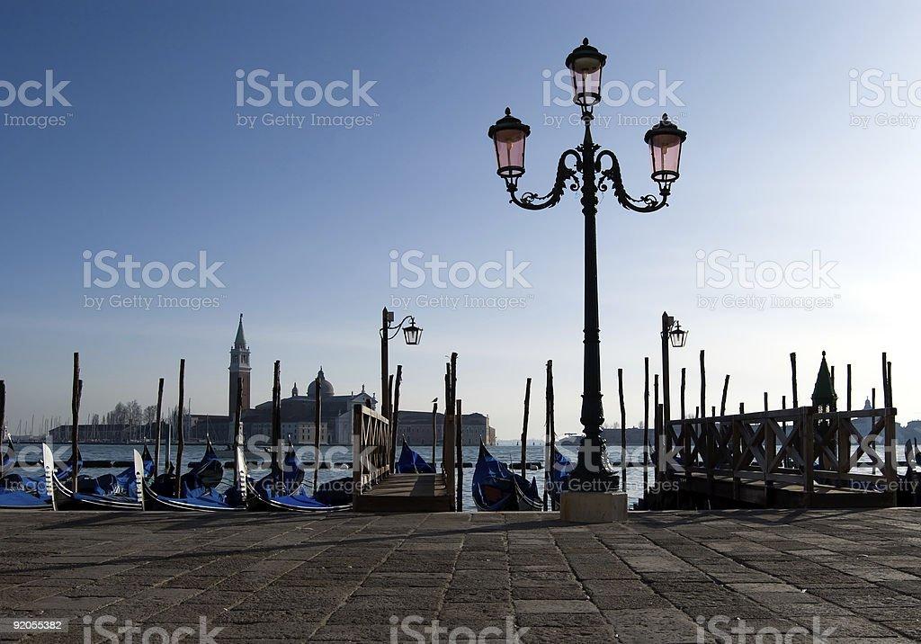 Boat in Venice royalty-free stock photo
