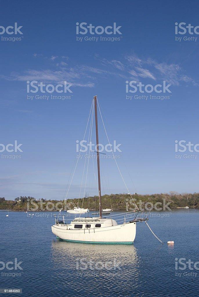 Boat inthe sea royalty-free stock photo