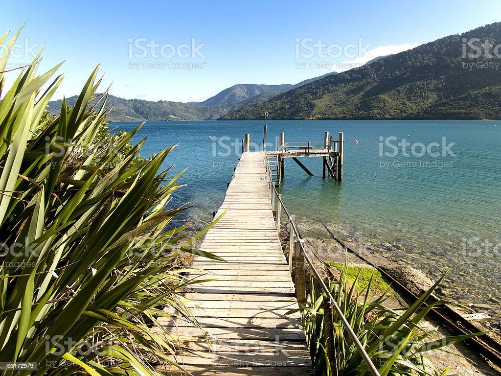 Boat jetty stock photo