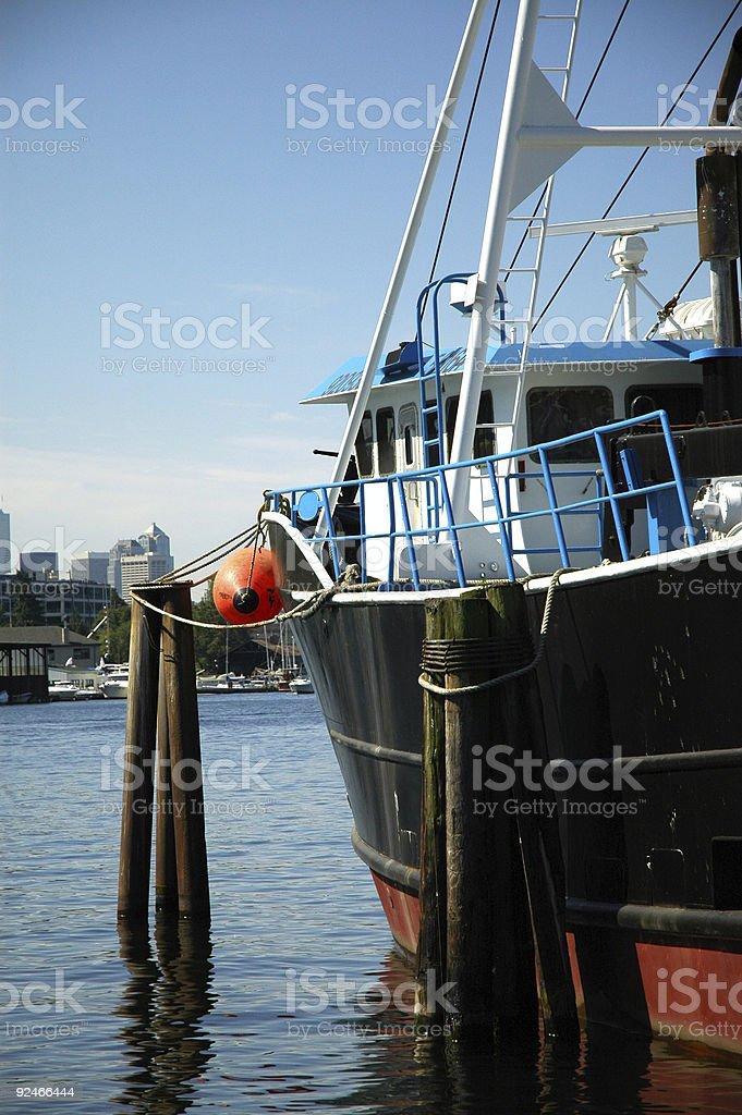 Boat - Lake Union royalty-free stock photo