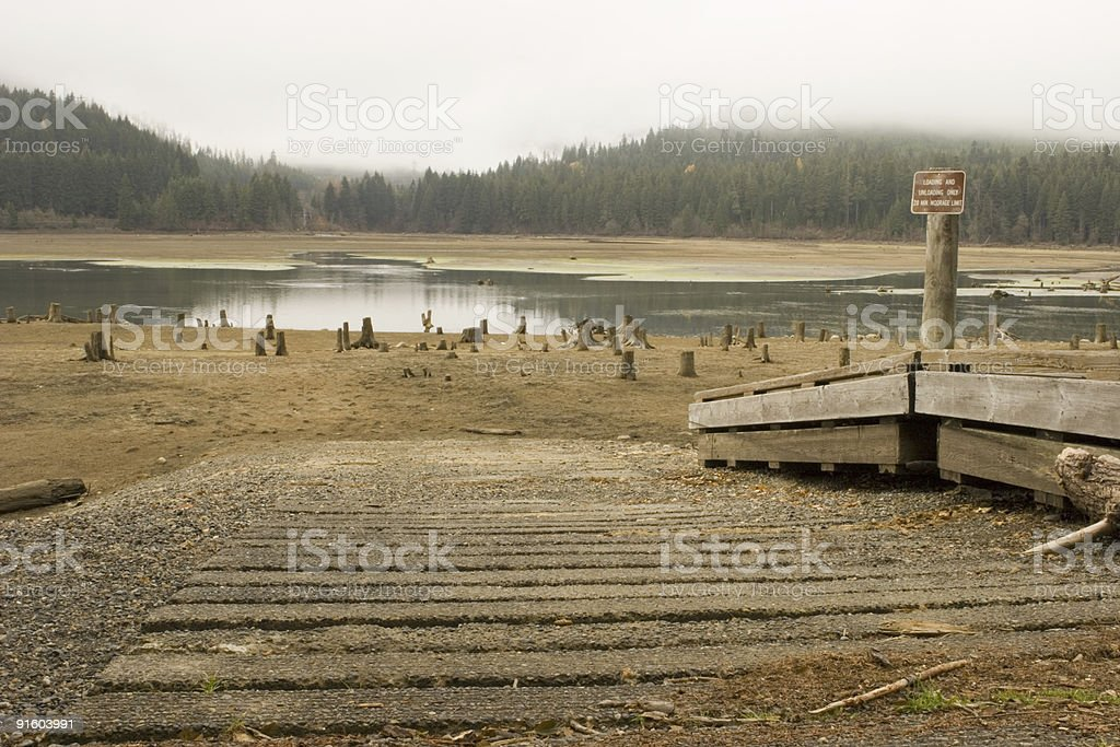 Boat Launch in Drought royalty-free stock photo