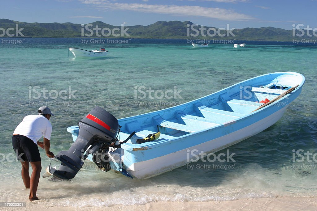 Boat launch into Paradise royalty-free stock photo