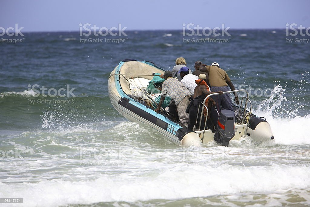 Boat launch stock photo