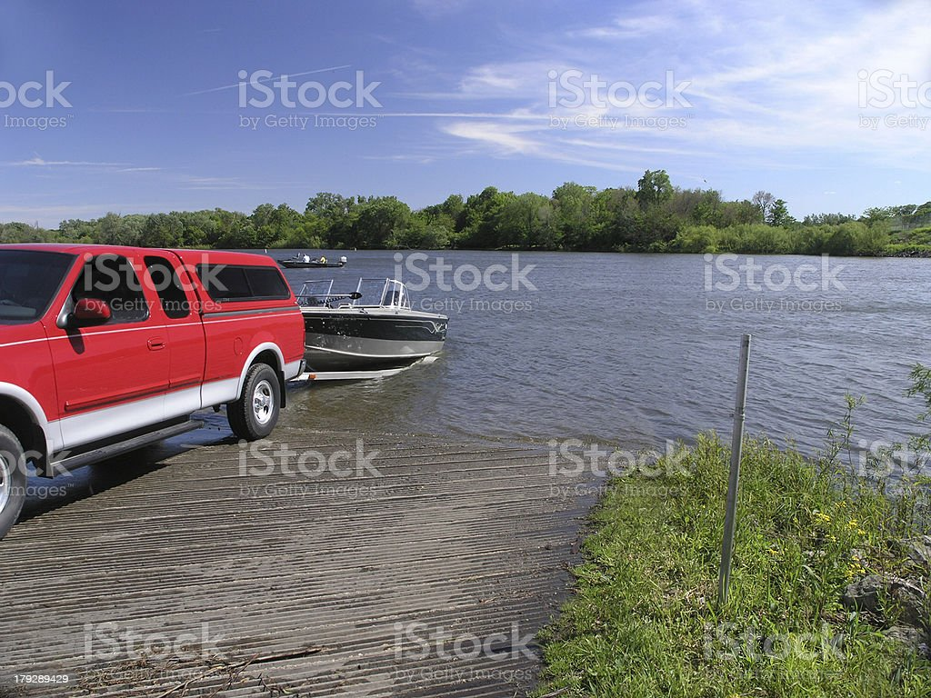 Boat Launching stock photo
