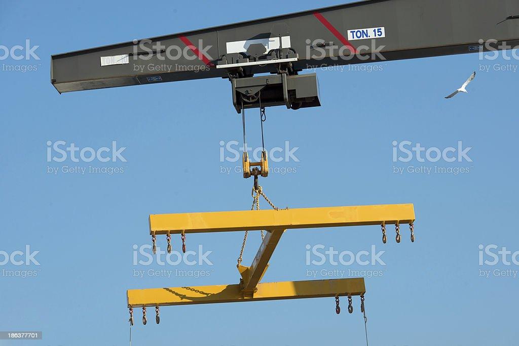 boat lift crane royalty-free stock photo
