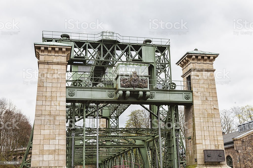 boat lift Henrichenburg  industrial culture royalty-free stock photo