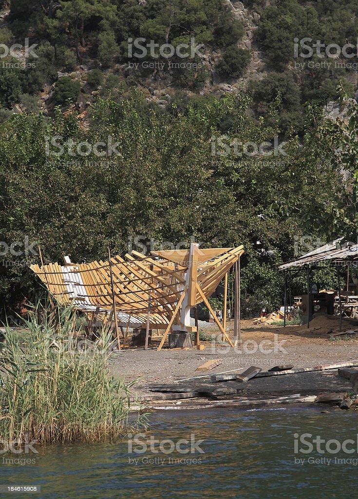 Boat Making royalty-free stock photo