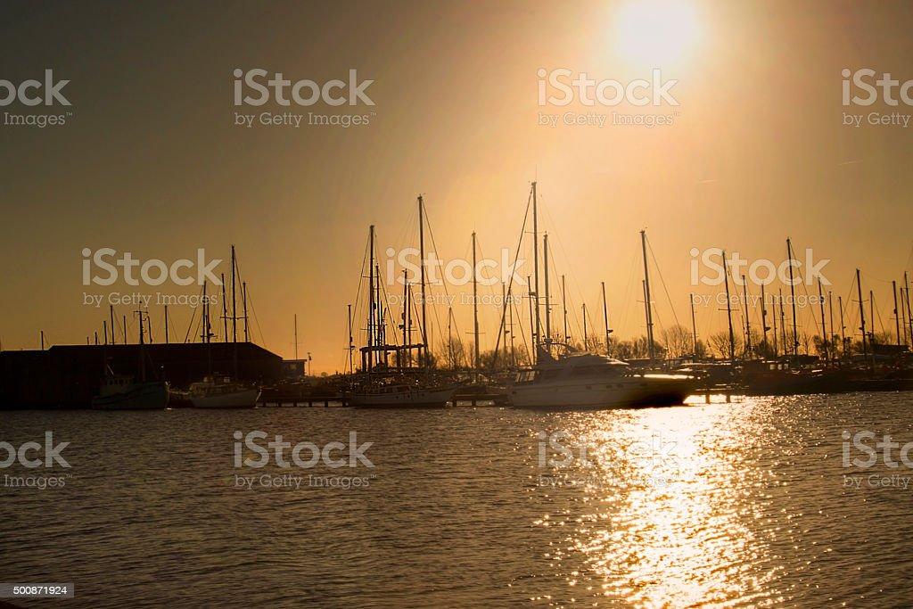 Boat Marina stock photo