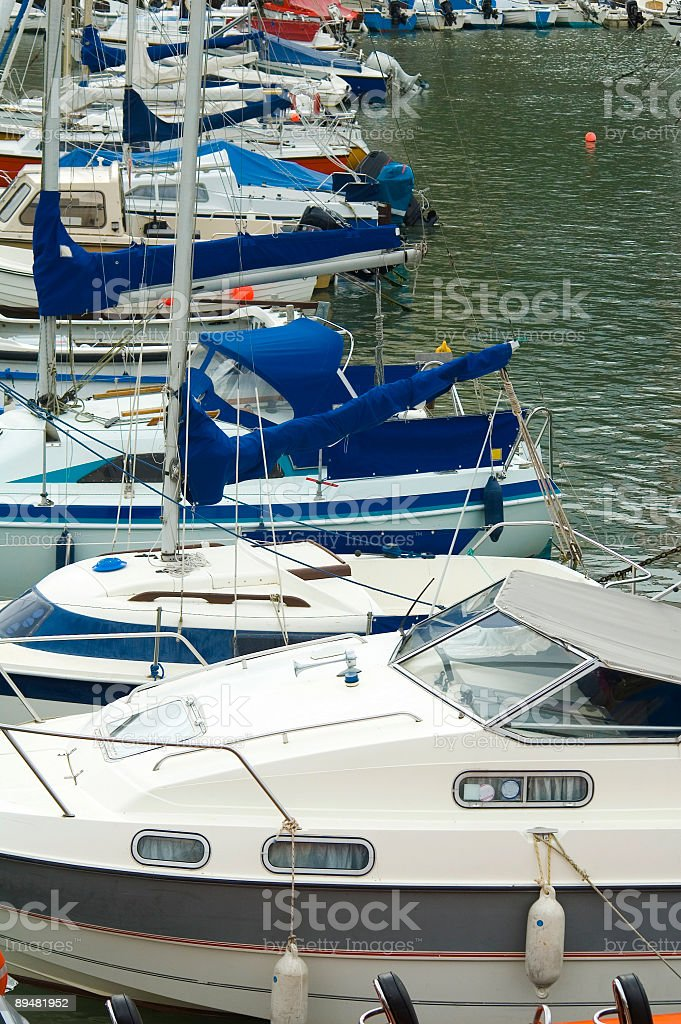 Boat marina stock photo