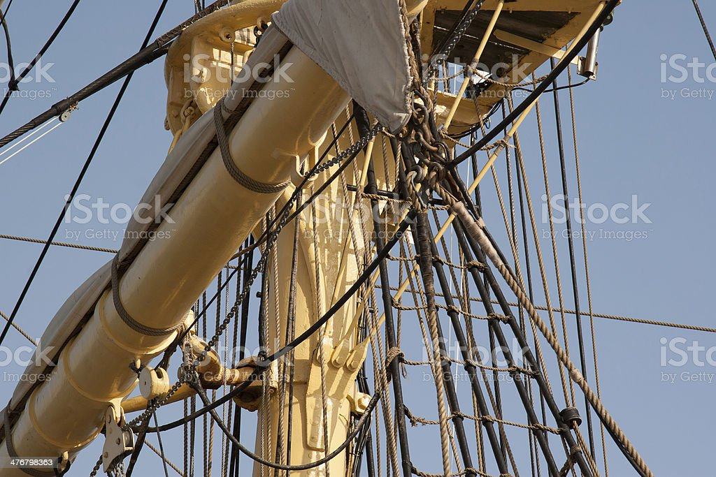 boat  mast royalty-free stock photo