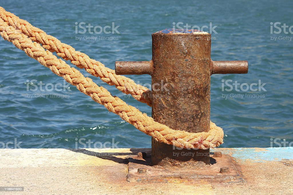 Boat mooring royalty-free stock photo